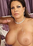 Teri Weigel gets her wet pussy pounded hard on a couch