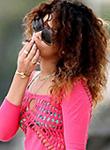 Rihanna smoking marijuana at the beach