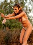 Mia Rose sexy elf shows hot body