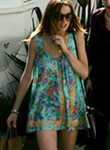 Lindsay Lohan shows freshly dumped legs