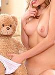 Nicole Ray schoolgirl strips with teddy bears
