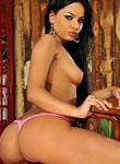 Kinky Angel Pink in tiny bikini fisting her wet pussy