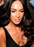 Megan Fox big cleavage in black dress