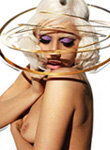 Lady Gaga goes topless in the magazine