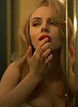 Scarlett Johansson shows busty cleavage