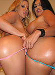 Carolyn Reese hot babes having a party on a huge cock
