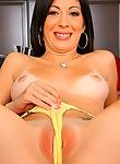 Kenna Kane riding hard on a huge cumstick on her bed