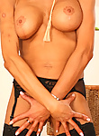 MILF babe Michelle McLarren strips out of clothes while waiting for a young pussy