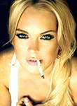 Lindsay Lohan gets down and looks dirty