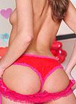 Tori Black slides off her pink panties