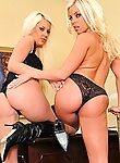 Britney is a successful pimp. She takes no shit and keeps her bitches in check. When new recruit Courtney shows up in her office, Britney needs to test her out and see how much the good little bitch can take.